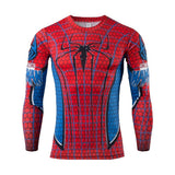 Men's Compression Shirt Bodybuilding man Superman T Shirt Fitness Tights Long Sleeve Tshirt - Prohero Store