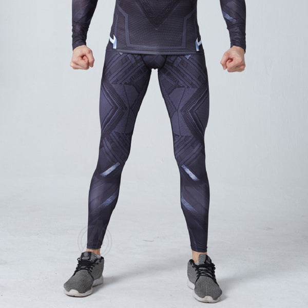 Men's Black Panther Gym Compression Leggings Pants - Prohero Store