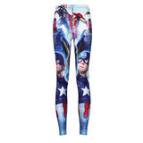 Women's Captain America Compression Leggings - Prohero Store