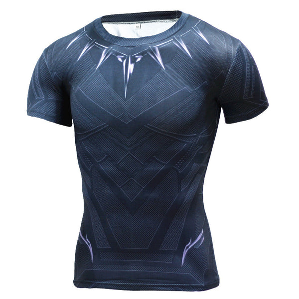 Men's Black Panther Compression Short Sleeve Shirt - Prohero Store