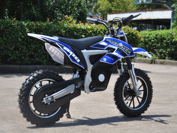 MotoTec 36v Electric Dirt Bike 500w Lithium Blue NEW - Best Buy Affordable