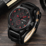 CURREN Men's Top Brand Luxury Quartz Watches Men's Sports Leather Strap Military Male Clock Fashion - Best Buy Affordable