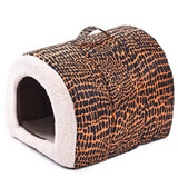 Product for Pet Bed Leopard Dog House Cat Cushion Pet Home High quality Soft Bed for Cat Print Puppy Mats - Best Buy Affordable