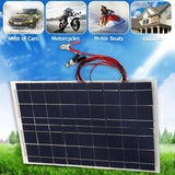 Portable Smart Solar Power Panel Car RV Boat Battery Charger