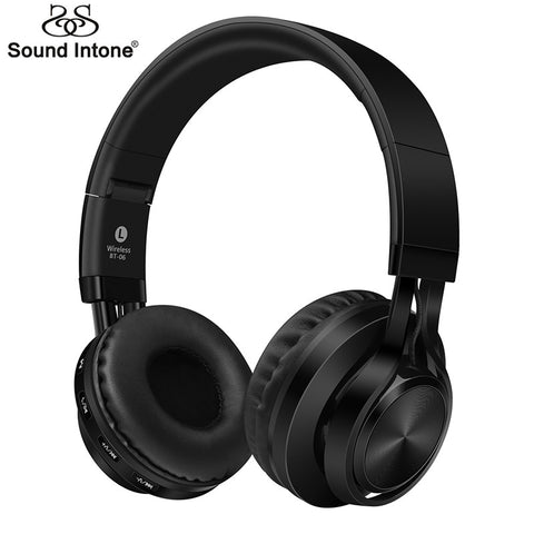 Sound Intone BT-06 Over-ear Wireless Bluetooth 4.0 Headphones Foldable Stereo with Build-in Microphone, - Best Buy Affordable