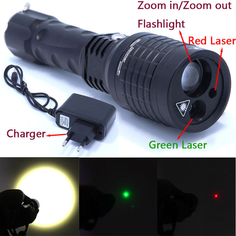 2016 New 3 in 1 flashlight red Green Laser Flashlight Pointer light Tactical Hunting - Best Buy Affordable