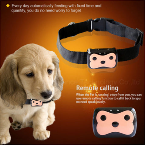 GPS Tracker with Collar Waterproof Real Time Locator for Pets Dogs Pigs