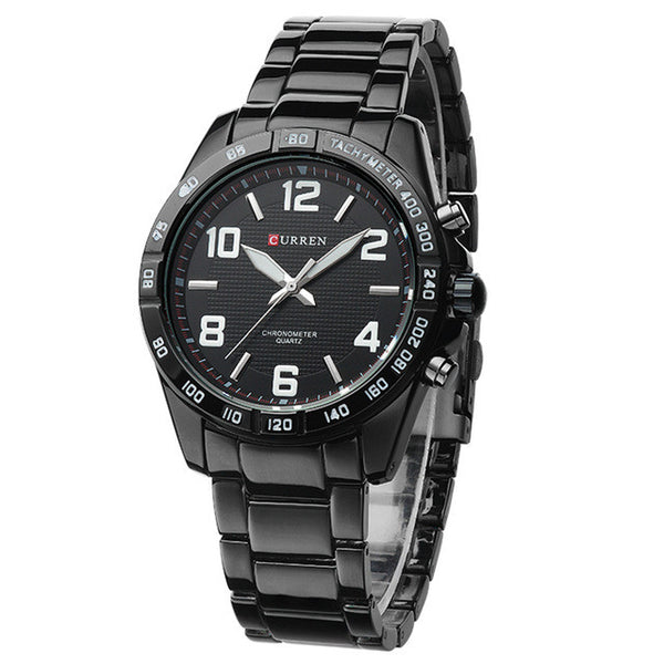 Fashion Quartz Casual Man Wrist Watch full steel Vogue Business Men Wristwatch Brand Curren quality - Best Buy Affordable