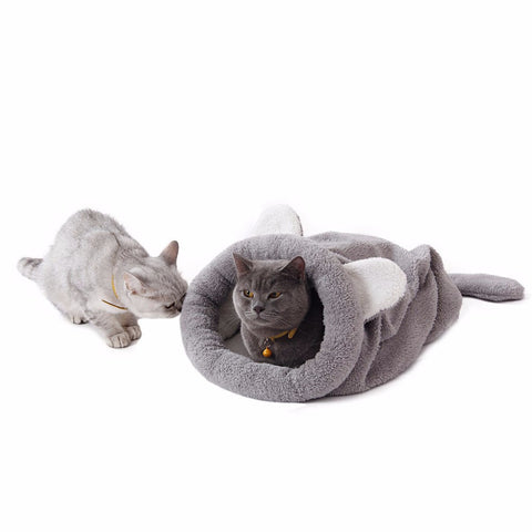 Cat Bed Cute Cat Sleeping Bag Soft Warm Cat House Pet Mats Puppy Cushion Small Dog Rabbit Bed Funny Pet Products - Best Buy Affordable