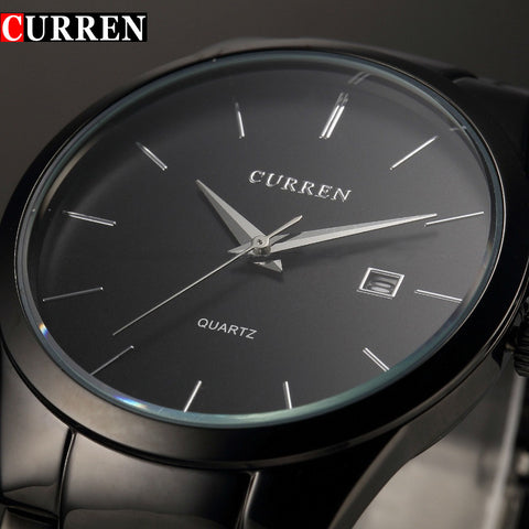 Curren Fashion Brand quartz Watch Men full Black steel Casual Business Wristwatch Clock Male Simple gift - Best Buy Affordable