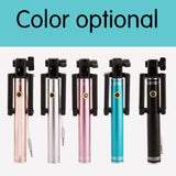 Hot! Universal 17-80CM Luxury Mini Selfie Stick Tripod Monopod for Iphone samsung Android IOS Wired Palo Self Groove Camera Para