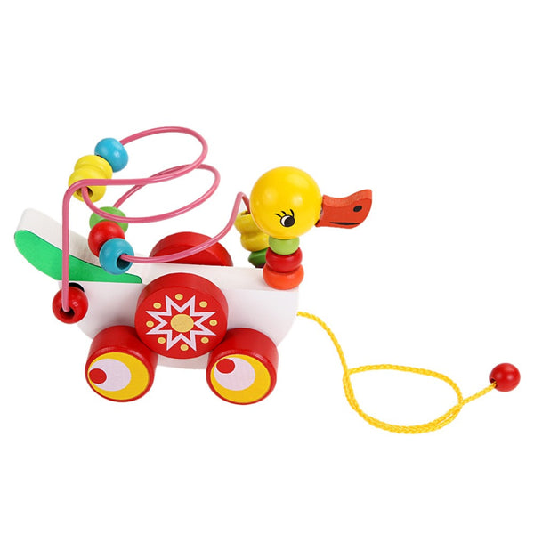 Baby Wooden Toys for Children Duckling Trailer Educational Toys Birthday Gifts 0- 3 Year - Best Buy Affordable