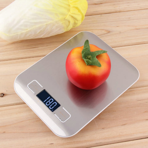 Worldwide 11lb x 0.05oz Slim LCD Digital Kitchen Scale 5Kg x 1g Weight Food Diet - Best Buy Affordable