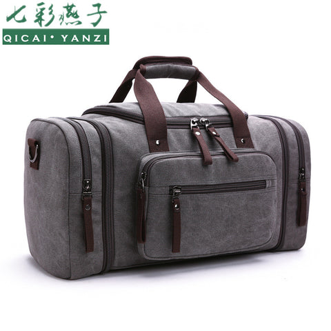 Men's Vintage Travel Bags Large Capacity Canvas Tote Portable Luggage Daily Handbag - Best Buy Affordable