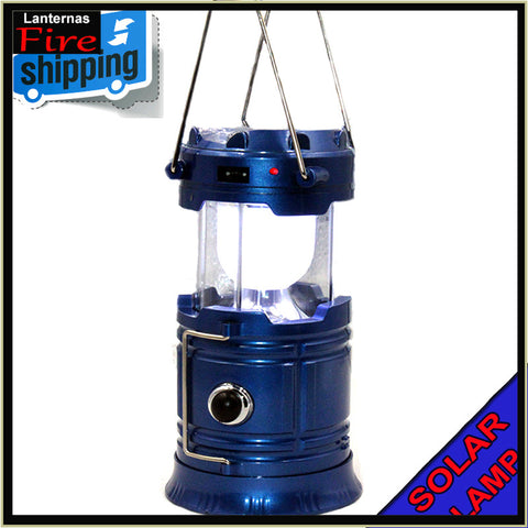 Solar Charging rechargeable USB Power Bank camping Lantern
