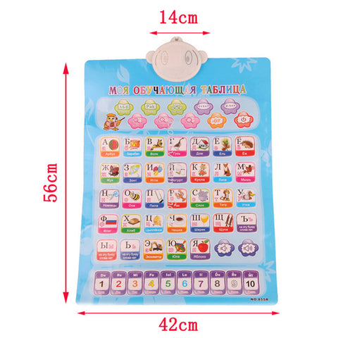 Russian Alphabet English Learning Machine Electronic Baby Alphabet Music Toy