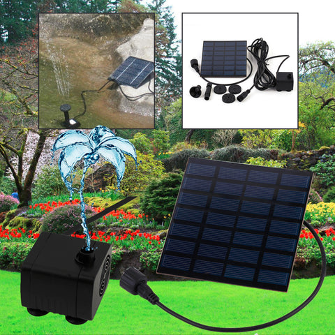 Hot 1 set Professional Solar Power Fountain Pool Water Pump