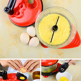 Manual Food Processor, Hand-Powered Miracle Baby Multi Vegetable Chopper Meat Grinder Maker Food Mixer - Best Buy Affordable