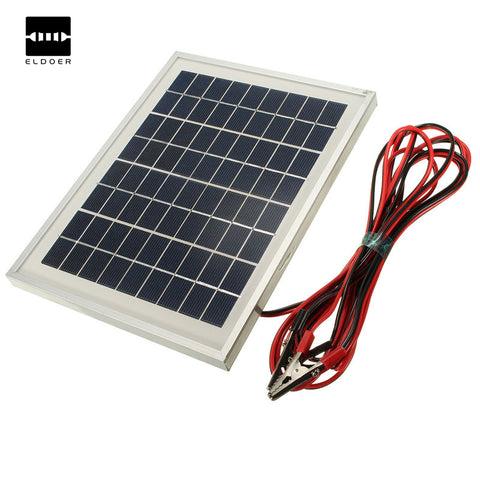 5W 12V Poly Large Solar Panel Charger Top Up 4M Cable Block Diode