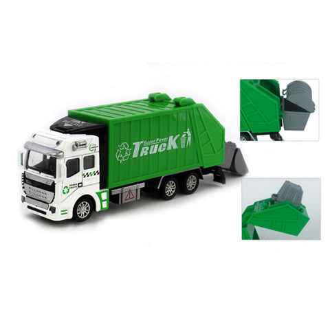 Large garbage truck Toy 1:48 Pull Back Garbage Truck