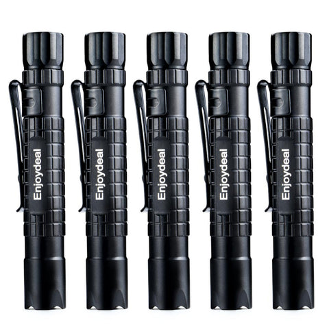 5pcs Enjoydeal Tactical Mini Pen Pocket CREE XPE LED Lumens Flashlight