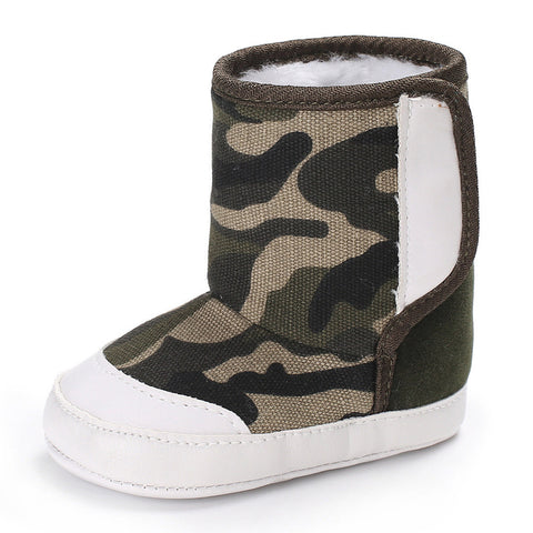 Camouflage boots Baby Winter shoes Soft Sole Snow Boots