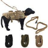 Nylon Tactical Military Army Police Dog Training Leash Elastic Bungee Belt Goods for Dog Multicolor Pets Collar and Leads of Dog