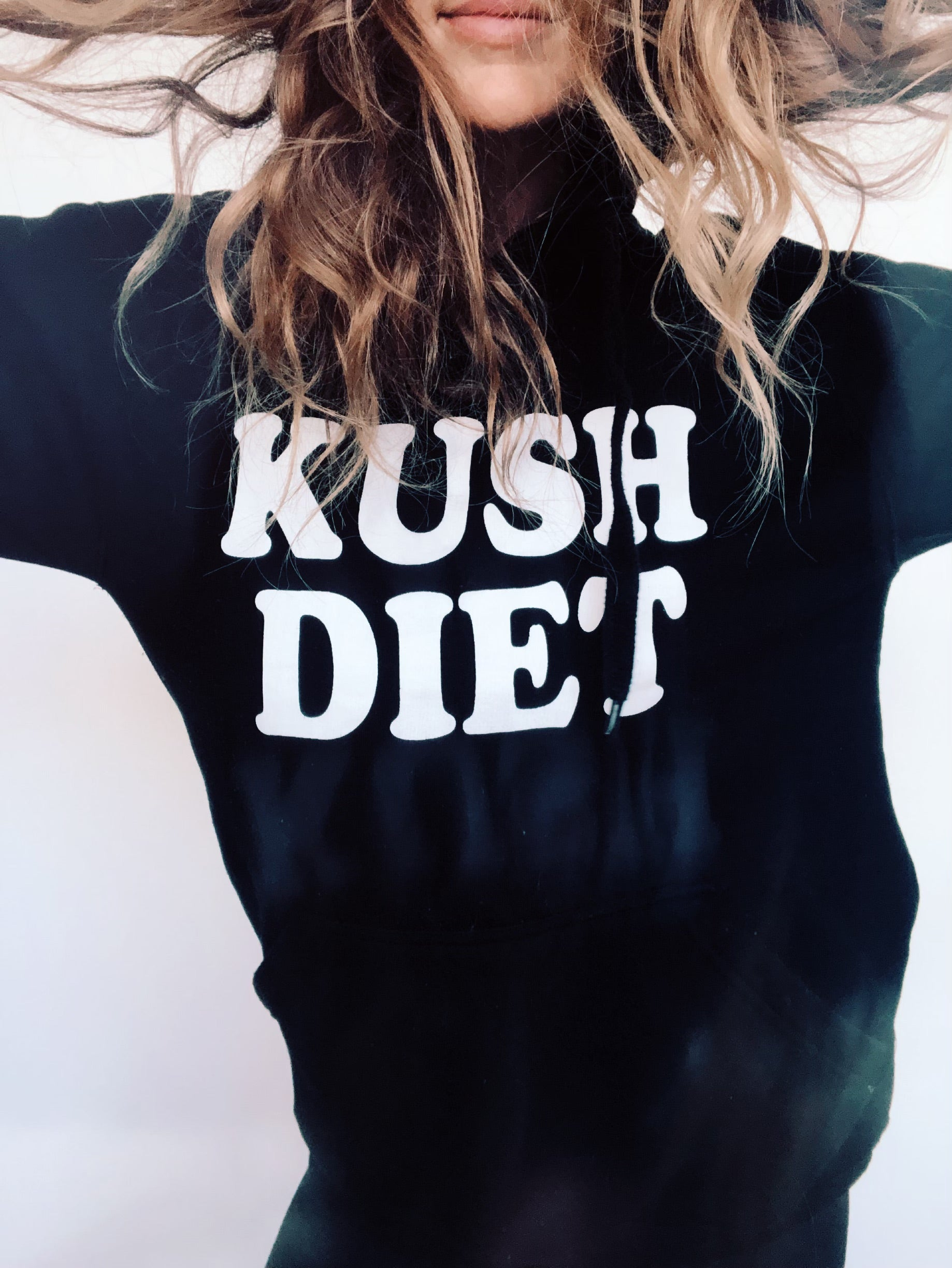 HIGHTEA.life Flower Culture - Kush Diet Hoodie (Black)