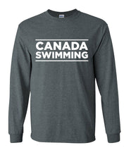 Canada Swimming Long Sleeve T-Shirt