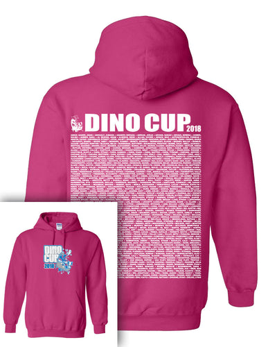 Dino Cup 2018 Hooded Sweatshirt With Names on Back