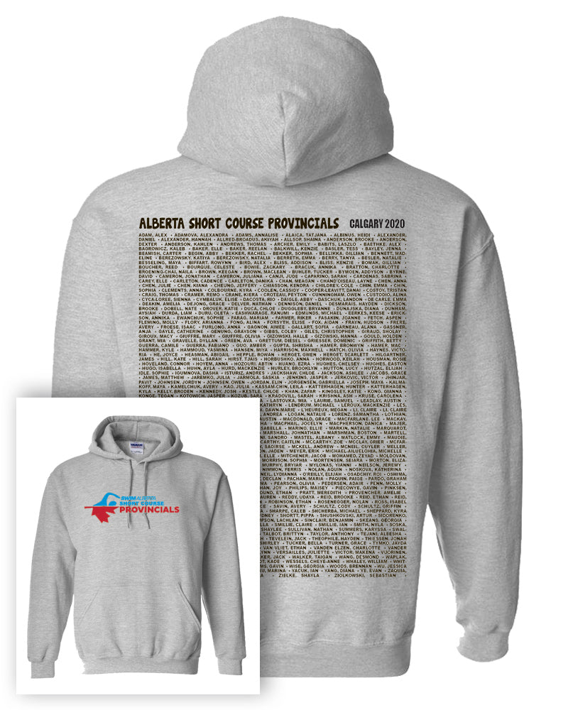 2020 Alberta Short Course Provincial Championships Hooded Sweatshirt With Names