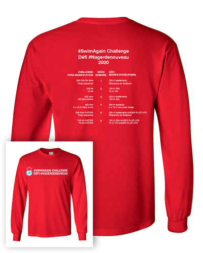 2020 Swim Canada Swim Again Challenge Long Sleeve T-Shirt with Back