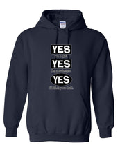 Yes I Am A Girl Yes I Am a Swimmer Hooded Sweatshirt