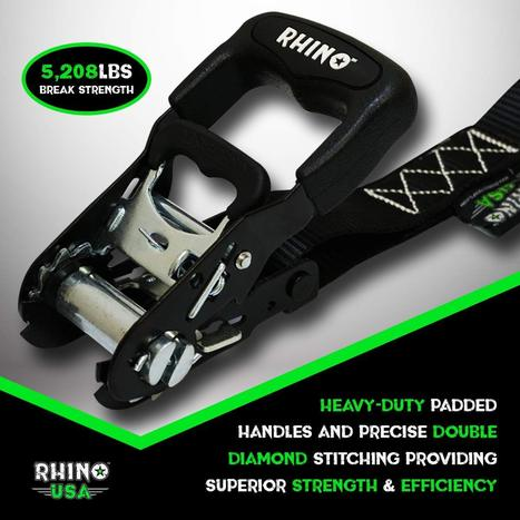 Rhino USA - Heavy-Duty Ratchet Tie-Down Kit (4-Pack)