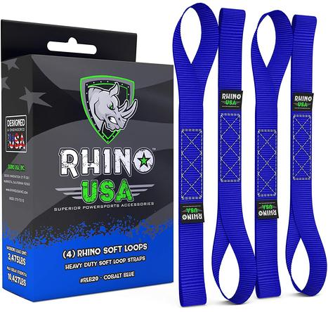 Rhino USA - Soft Loop Tie-Down Straps (4-Pack)