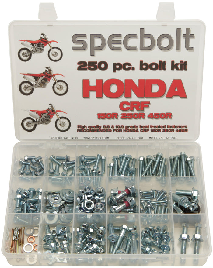 Specbolt 250pc Honda CRF 150 250 & 450 R Kit