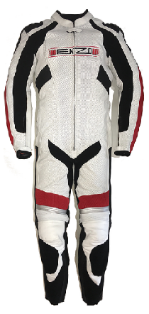 Enzo Motorsports - White Red and Black Suit