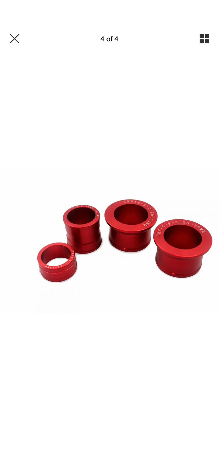 CNC - Honda CRF Wheel Spacer Set CRF250R 2004-2019 CRF450R 2002-2019