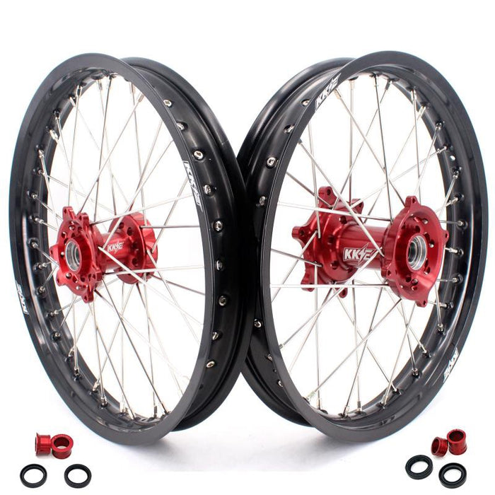 Wheel Set - 1.85*19 & 2.15*19 KKE Flat Track Honda