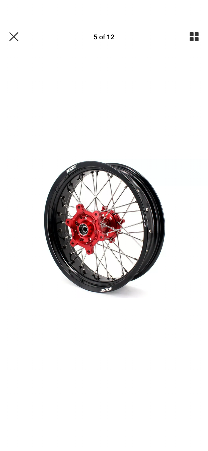 Wheel Set - 3.5*17 & 4.25*17 KKE Supermoto Motard Honda CRF250L 2013-2019 Rims