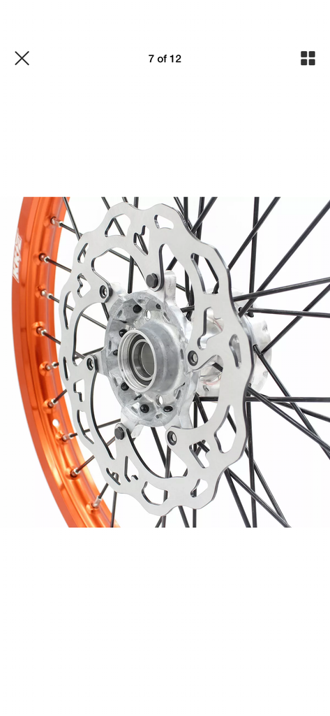Wheel Set - 1.6*21 & 2.15*19 KKE MX Husqvarna TE TC FE FC 125-450 2014-2019 Rims