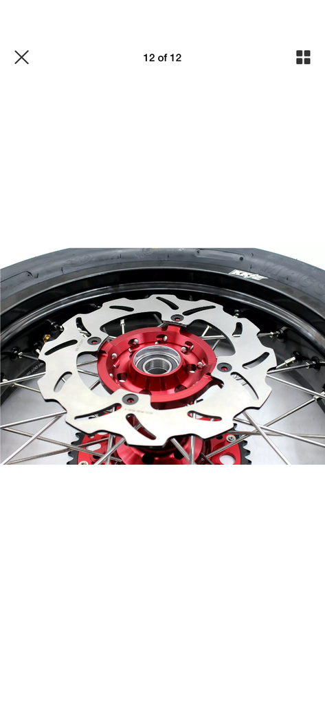 WHEEL SET - 3.5*17 & 4.25*17 KKE SUPERMOTO HONDA CRF 250R 2014-2019 450R 13-19 WITH CST TIRES