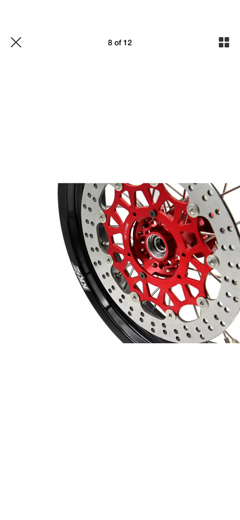 Wheel Set - 3.5*17 & 4.25*17 - KKE Supermoto Honda XR650L 1993-2018 Rims with 320mm Disc