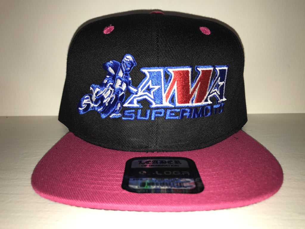 Official AMA Supermoto Snapback Limited Edition Pink