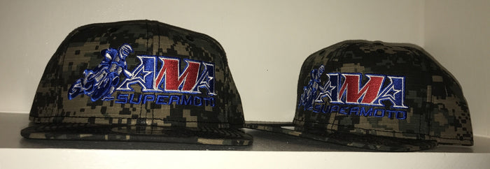 Official AMA Supermoto Digital Snapback Jungle Camo