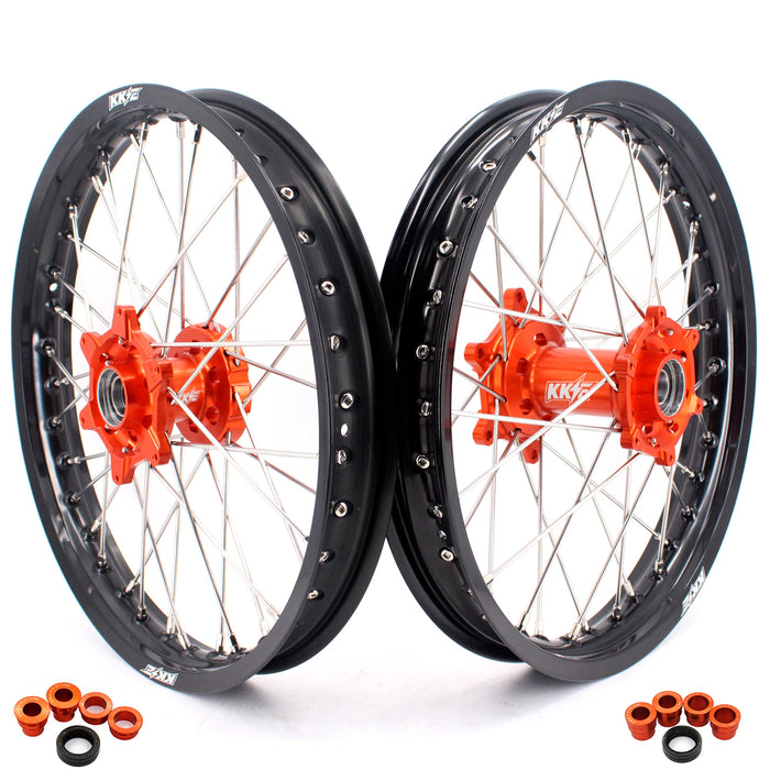 Wheel Set - 1.85*19 & 2.15*19 KKE Flat Track KTM