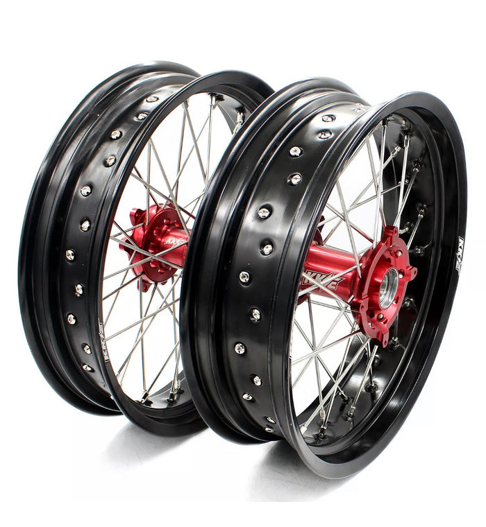 Wheel Set - 3.50*16.5 & 5.0*17 KKE Supermoto Honda 04-13 CRF250R 02-12 CRF450R