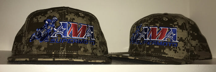Official AMA Supermoto Digital Snapback Desert Camo