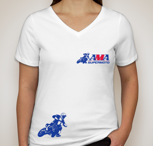 Official AMA Supermoto Ladies V-Tee