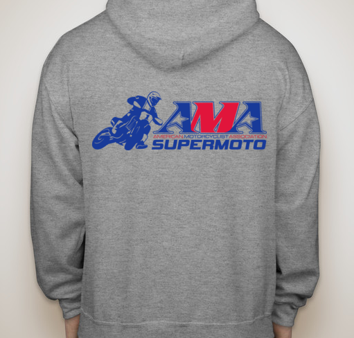 Official AMA Supermoto Zip Up Hoody